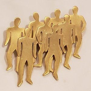 eight gold naked men pin broach dated 1988